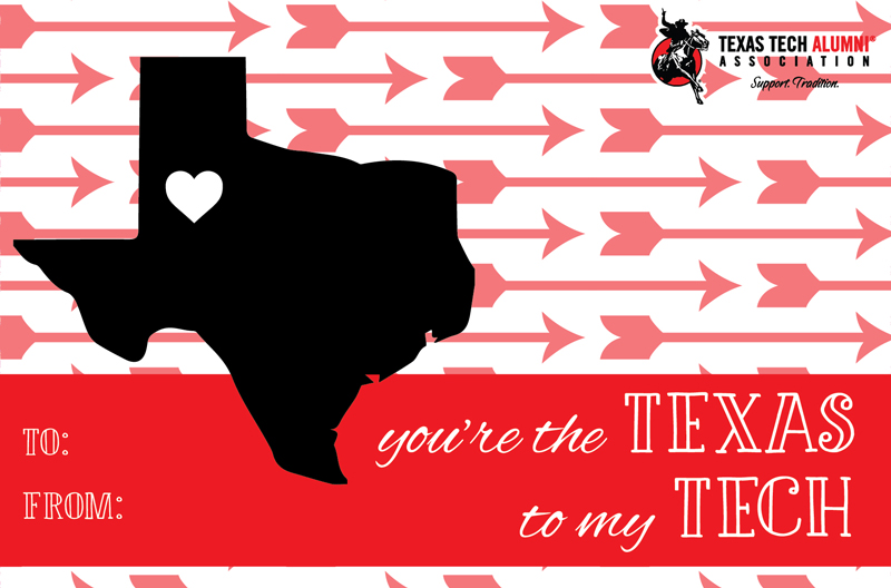 Texas Tech Alumni Association  TTAA Valentines Day Cards
