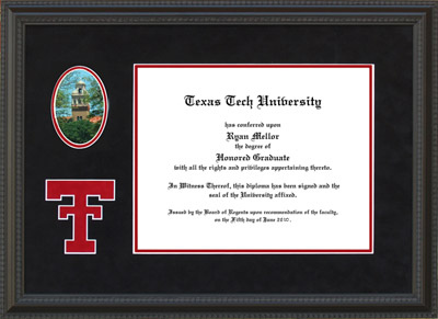 Texas Tech Alumni Association Diploma Frames