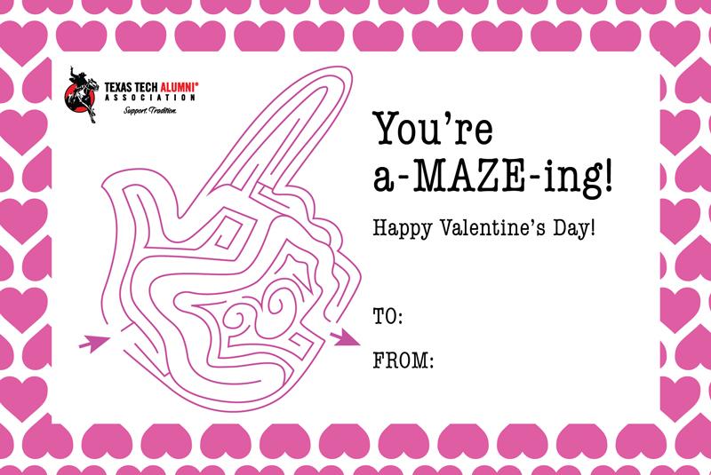 Texas Tech Alumni Association Ttaa Valentine S Day Cards