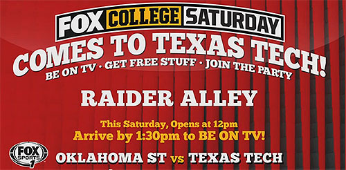 Texas Tech Alumni Association Fox College Saturday Tour Headed To Lubbock For The Osu Game